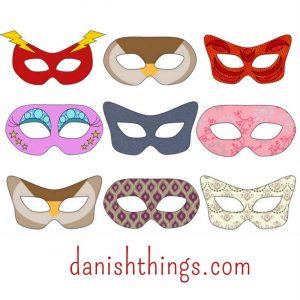 Fastelavnsmasker Find skabeloner og masker til print danish things @ danishthings.com