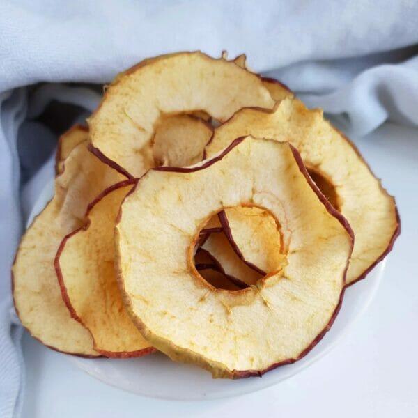 Æble chips – tørrede æbleringe – i ovn eller i dehydrator: