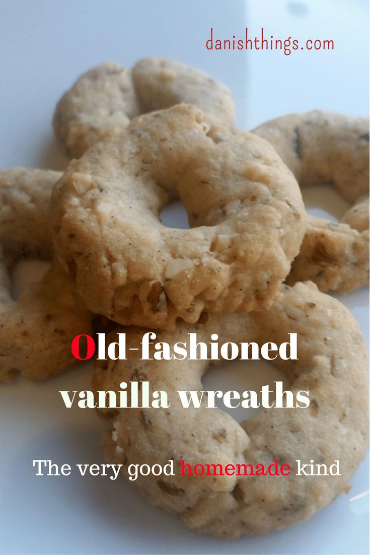 Rigtig gode hjemmelavede vanilje kranse - Old-fashioned homemade vanilla wreaths @ danishthings.com