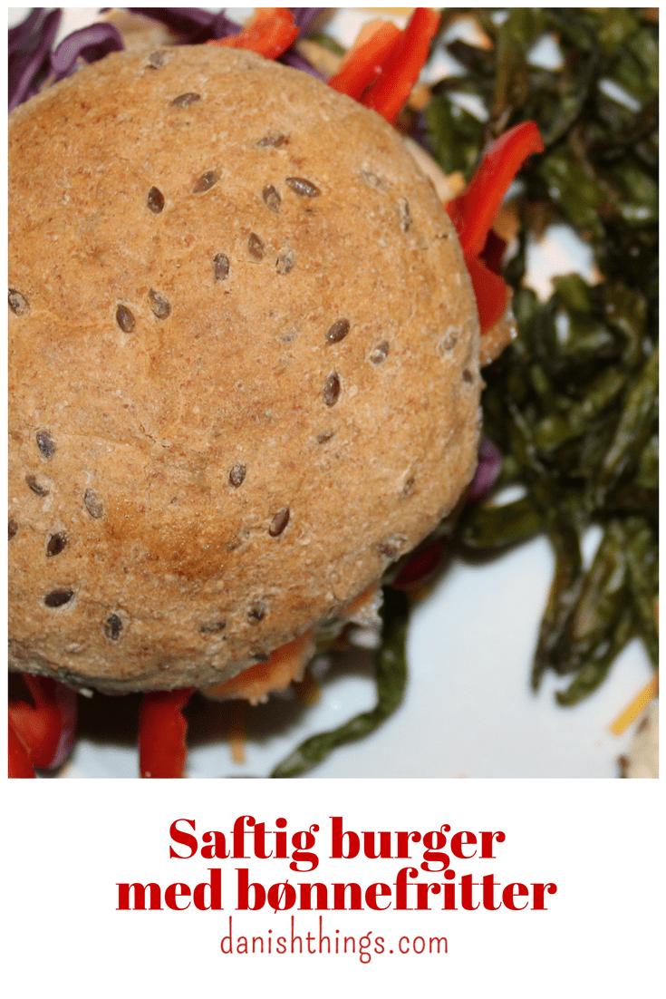 Anderledes saftig burger med bønnefritter @ danishthings.com