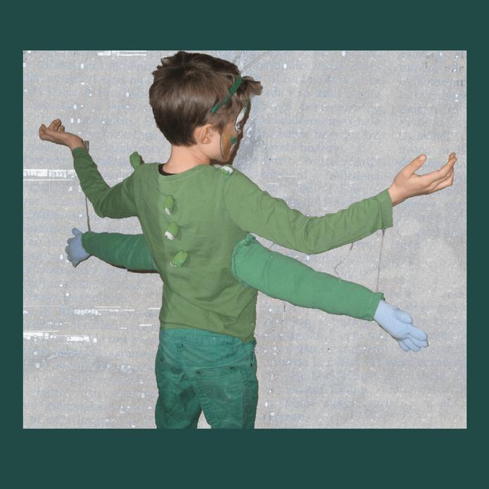 Rumvæsen monster eller Olie sheik - Fastelavnsudklædning - find gratis dekorationer, skabeloner, masker, opskrifter og inspiration på danishthings.com © Christel Danish Things
