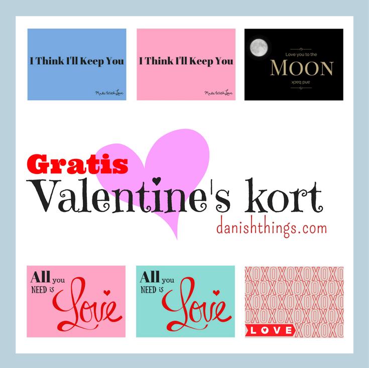 Valentines kort kærlighed - find inspiration og gratis print på danishthings.com © Christel Danish Things